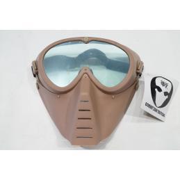 Mascara simple transparente negro