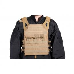 CHALECO PLATE CARRIER TAN DELTA TACTICS V18 + 2 PLACAS DE PROTECCION DUMMY
