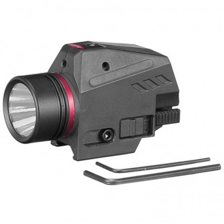 Linterna táctica con laser rojo SD129