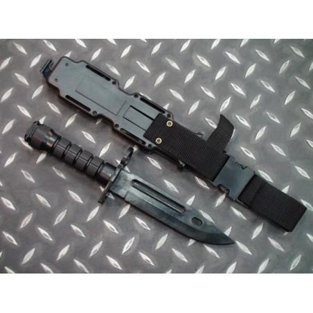 Cuchillo, entrenamiento tactico militar Negro
