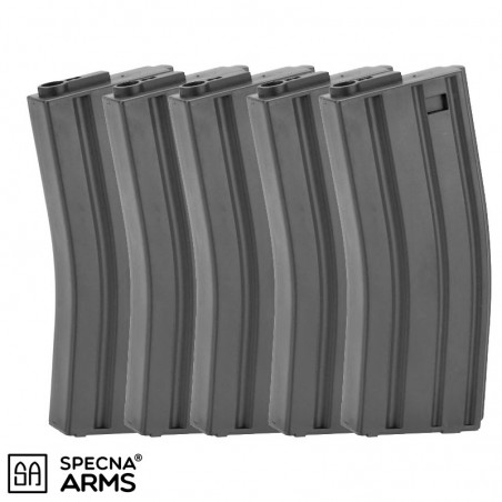 PACK 5 CARGADORES SPECNA ARMS MID-CAP 120BBS - BLACK