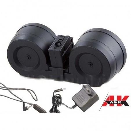 Cargador Electrico G-36 A&K 2000rd Dual Ammo Box for G36 AEG a012