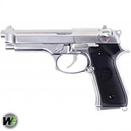 WE-NEW M92 GBB CHROME