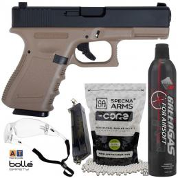 KIT Glock 23 TAN KJW + GAS...