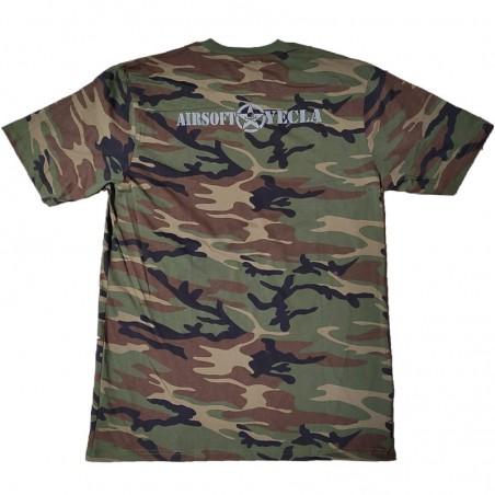 Camiseta Manga corta Mil-Tec Woodland para niño