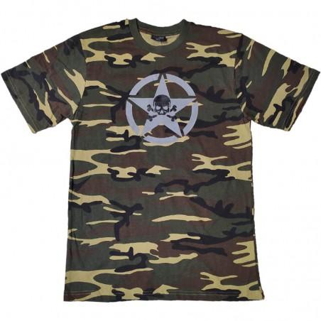 Camiseta Manga corta Mil-Tec woodland
