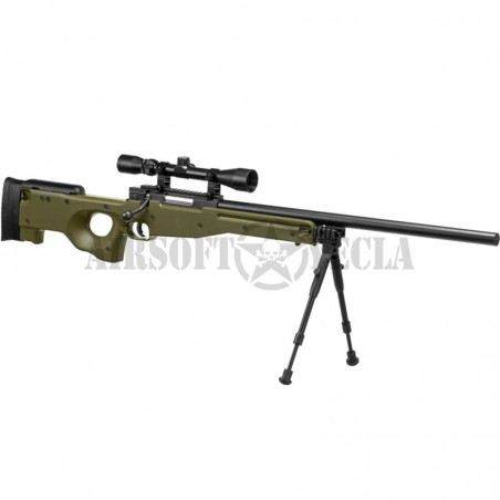 Fusil MB01 sniper de WELL - L96 Verde UPGRADEADO SAIGO