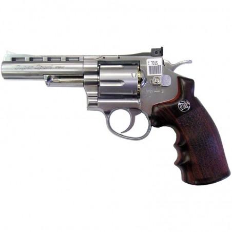 """REVOLVER CO2 4"""" SILVER (C 701S) - WIN GUN"""