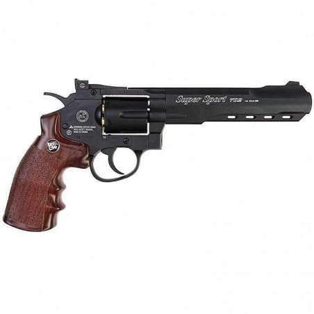 "REVOLVER CO2 6"" BLACK (C 702) - WIN GUN"