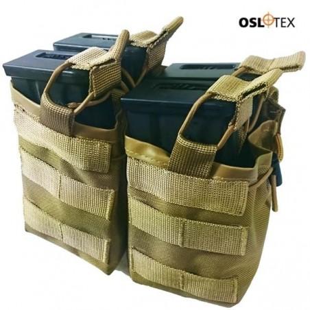 OSLOTEX Portacargador Doble-Doble g36/ak47 Coyote
