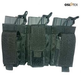 OSLOTEX Pouch Portacargador Triple Kanguro m4 BK
