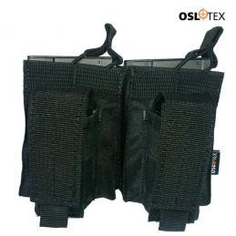 OSLOTEX Portacargador Doble m14 Kanguro Negro