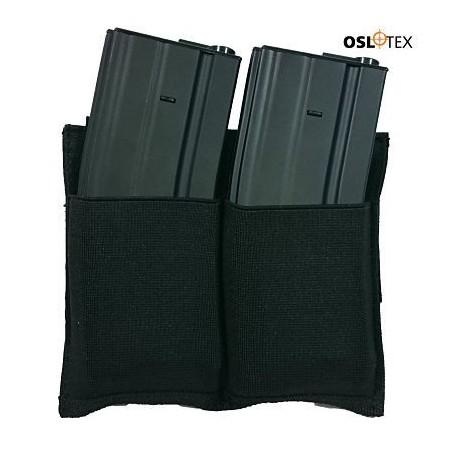 OSLOTEX Pouch Portacargador Doble Elastico m4/m16 Negro