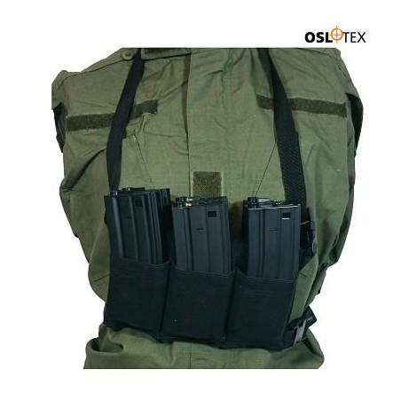 OSLOTEX Pouch Portacargador Elastico Six Pack m4/m16 Negro