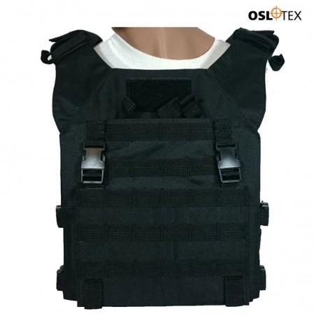 OSLOTEX Chaleco JAK BK Talla M/L Con Placas