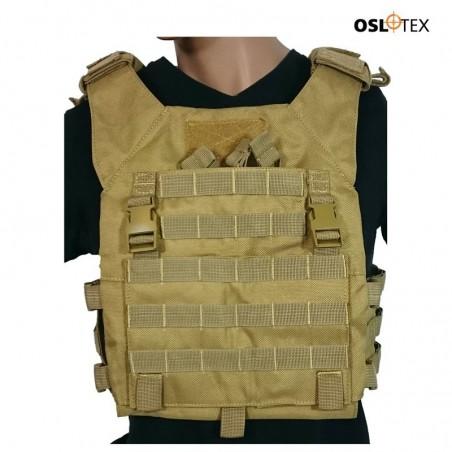 OSLOTEX Chaleco JAK Coyote 1000D Talla XL Con Placas