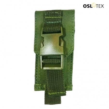 OSLOTEX Pouch Porta-Navaja Suiza, tijeras, linterna VerDe