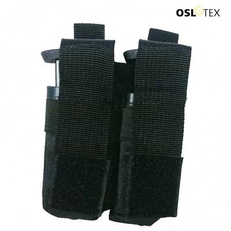 OSLOTEX Portagranada 40mm o Cargador Pistola Doble velcro BK