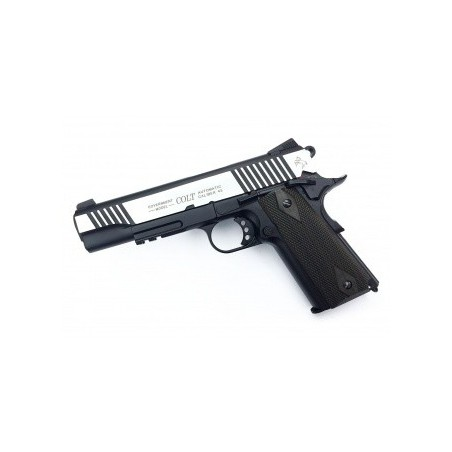 Pistola co2 COLT 1911 RAIL GUN DUAL TONE 180525