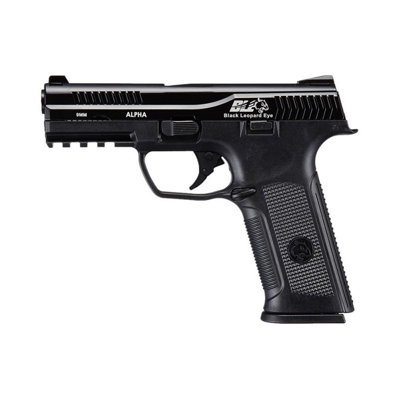Pistola ICS BLE-001-SB ALPHA GAS BLOWBACK PISTOL BLACK