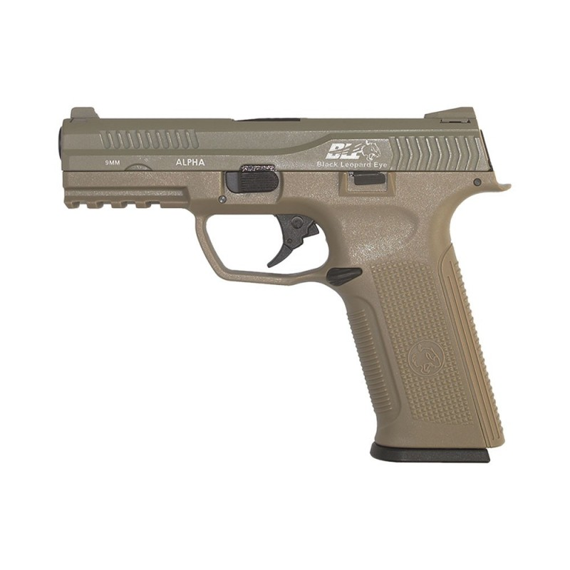 Pistola ICS BLE-001-ST ALPHA GAS BLOWBACK PISTOL TAN