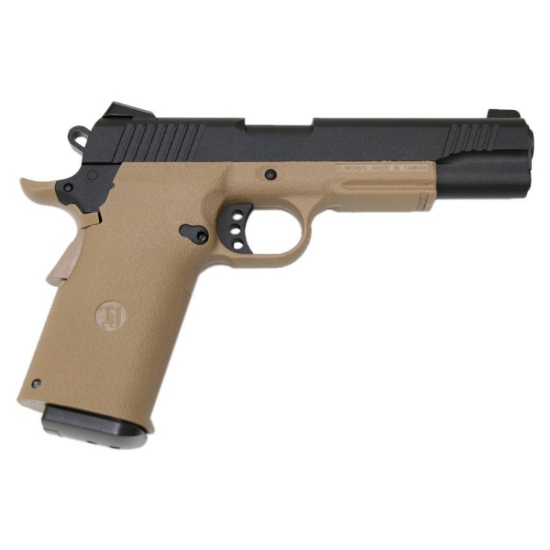 Pistola KJ WORKS KP-11 CO2 BLOWBACK TAN
