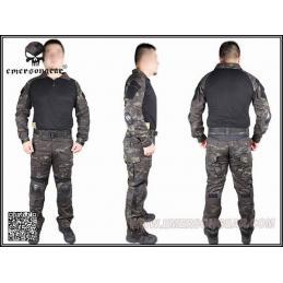 Emerson uniforme completo estilo multicam negro