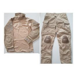 Uniforme DELUXE combat completo ESTILO navy seal 3d sand tan XL