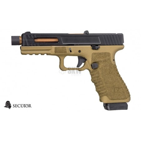 PISTOLA GAS Y CO2 GLADIUS 17 BRONZE SECUTOR