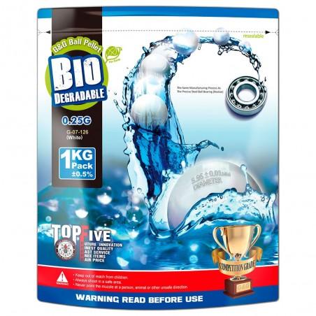 Bolas G&G 0,25g Biodegradable Blancas 1kg