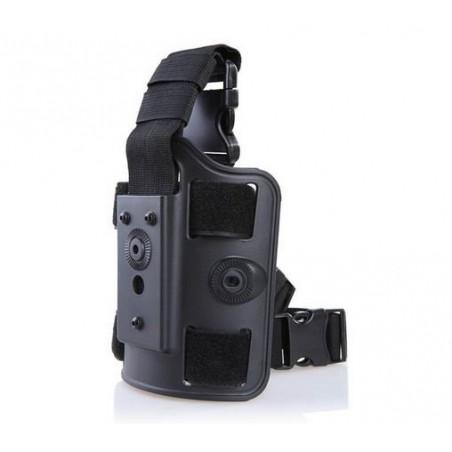 Pernera rigida alta resistencia para pistolera y portacargador de Cytac CY-DLP BK