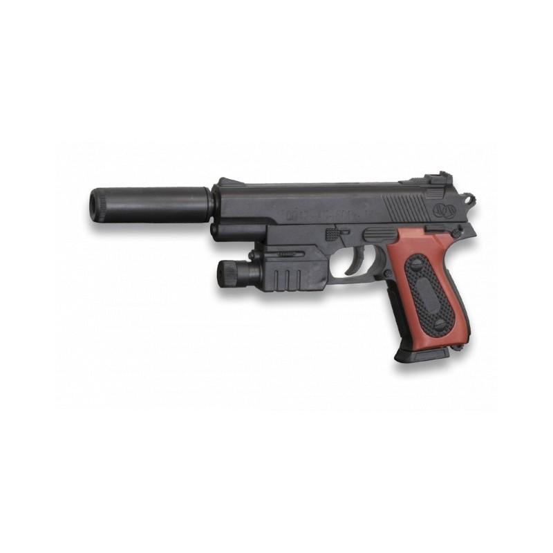 Pistola Muelle Silenciador Marron