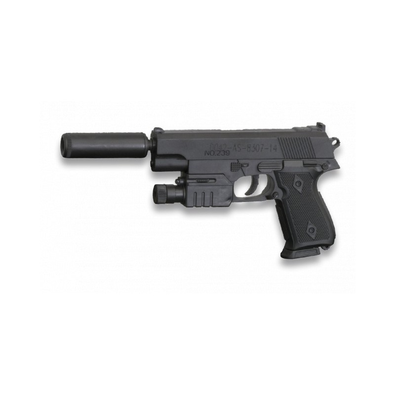 Pistola de muelle con silenciador Negra