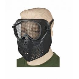 Mascara PVC Negra Rejilla
