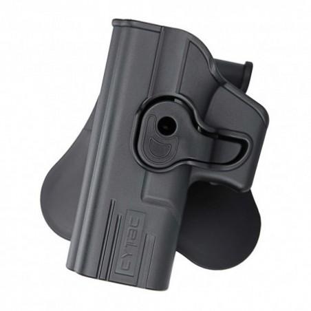 Pistolera rigida para zurdo Glock19,23,32 CYTAC NEGRO