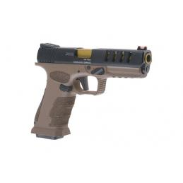 Pistola Shark APS Full Auto CO2  - Black/Tan