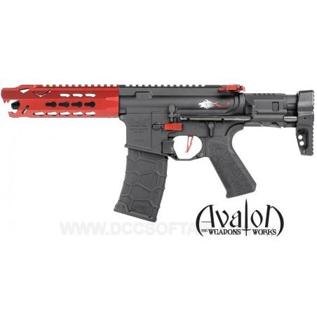 Subfusil Vega Avalon Leopard CQB AEG - 6 mm Rojo VFC