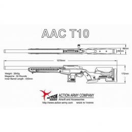SNIPER ACTION ARMY T10 JAE-700 DE