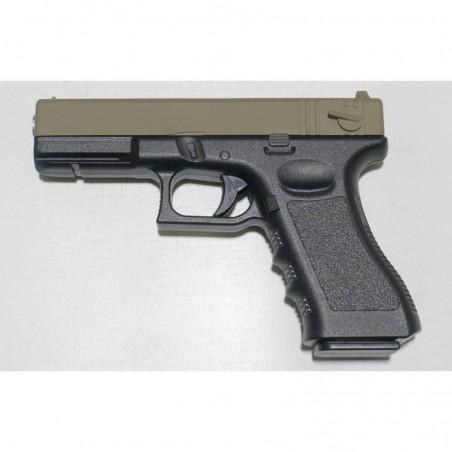 Pistola Glock18 Muelle Corredera Metalica TAN