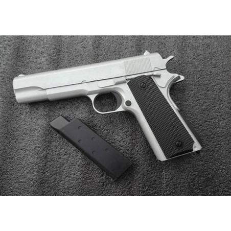 Pistola 1911 Plata Corredera Metalica