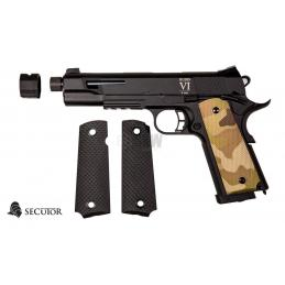 PISTOLA GAS Y CO2 RUDIS CUSTOM VI MULTICAM SECUTOR
