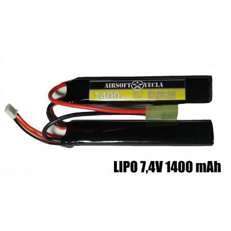 Bateria 7.4 LIPO 2 Celdas 30C 1400mAh