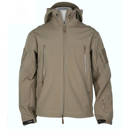 CHAQUETA SHARK SKIN SOFTSHELL TAN