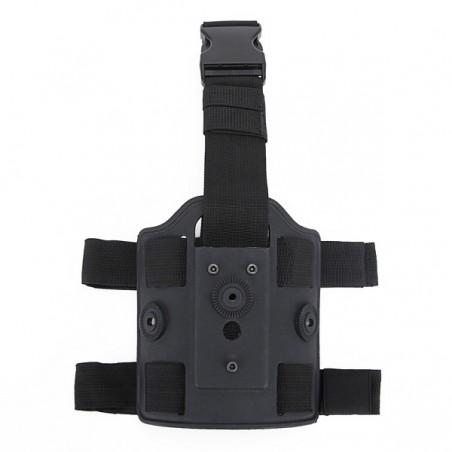 Pernera rigida para pistolera y portacargadores