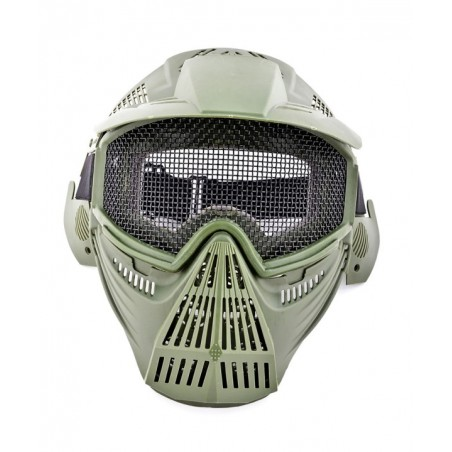 Mascara Completa Rejilla Verde