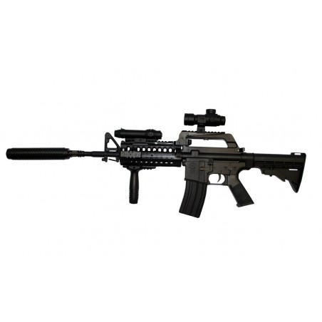 Rifle Táctico M4 Spring con accesorios