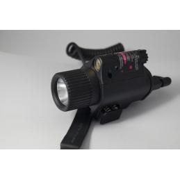 Linterna LED estilo M6 tan con laser rojo