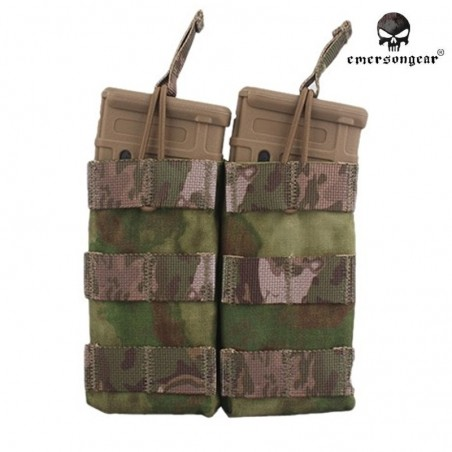 Pouch doble Emerson M4 open top A-TACS FG