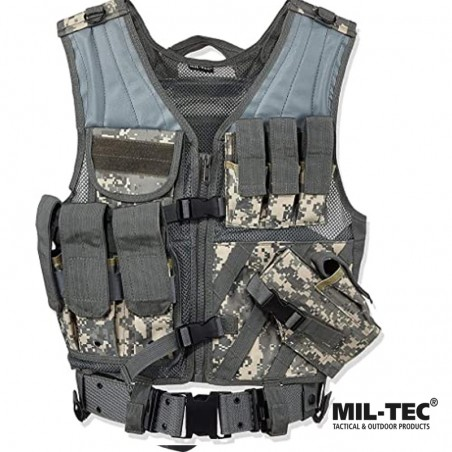Chaleco Tactico VX-200 con pistolera y ceñidor AT-DIGITAL