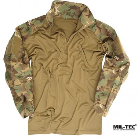 CAMISA TACTICA CON CODERAS MIL-TEC WARRIOR MULTICAM
